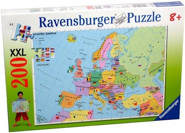 RAVEN. 200 EL.XXL POLITYCZNA MAPA EUROPY