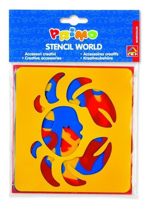 Szablony do farb Primo morski świat 6 sztuk blister