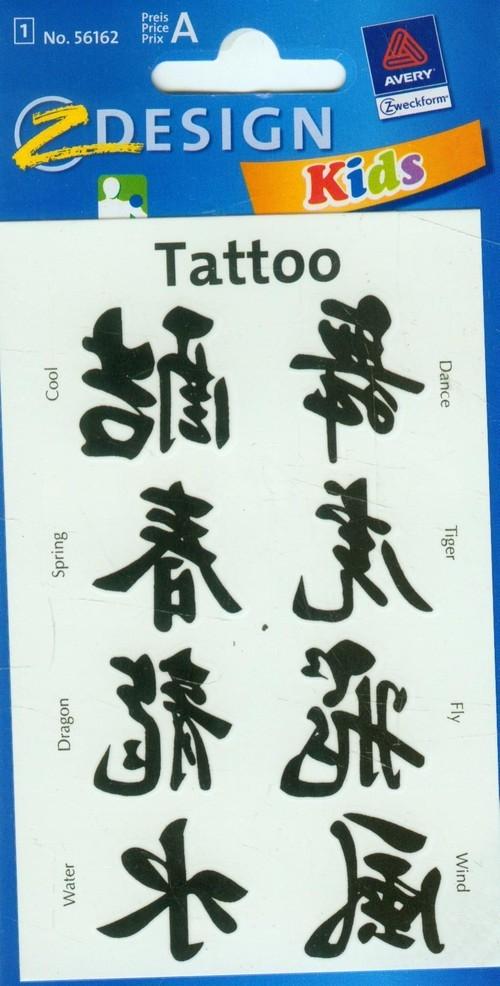 Tatuaże Chińskie Znaki 56162 Russell Księgarnia