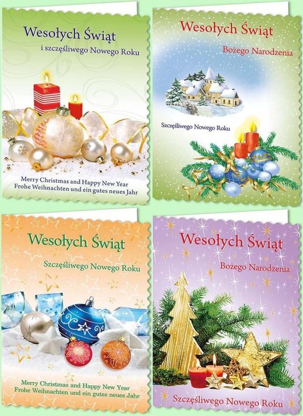 Karnet B6 Boże Narodzenie Z opłatkiem Świecki - 10 sztuk