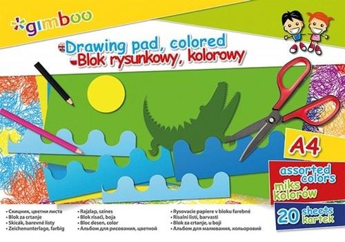 Blok rysunkowy A4 20 kartek 6 sztuk mix kolorów