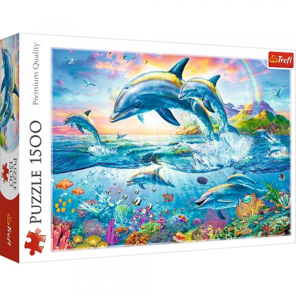 Puzzle 1500: Rodzina delfinów (26162)