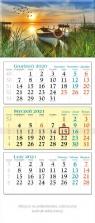 Kalendarz 2021 trójdzielny KT 03 Łódka