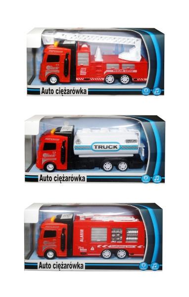 Auto w polskim opakowaniu ze światłem i dźwiękiem