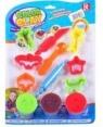 Masa plastyczna z akcesoriami 3 kolory
