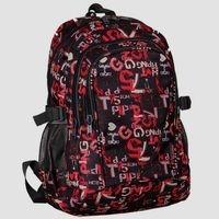 Plecak młodzieżowy czarno-czerwony