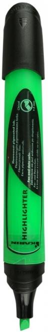 Zakreślacz Highlighter zielony. Display x 6