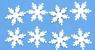 Konfetti płatki śniegu, białe (284805)