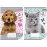 Zeszyt A5 Sweet Pets w kratkę 32 kartki 10 sztuk mix