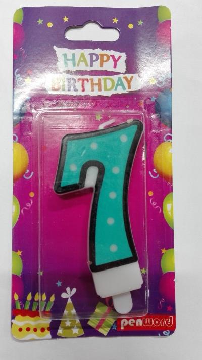 Świeczka urodzinowa - 7 (PTN1-7)