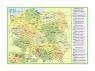 Podkładka na biurko Polska mapa administracyjna
