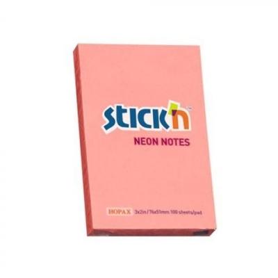 Notes samoprzylepny 76x51mm neon różowy
