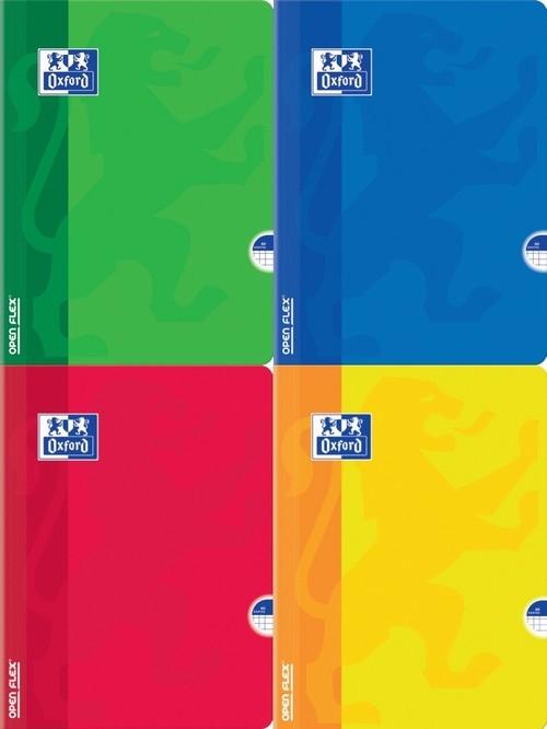 Zeszyt  A5 Oxford Open Flex w kratkę 60 kartek 5 sztuk mix
