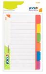 Przekładki samoprzylepne białe, 6 kolorów indeksów