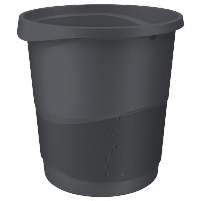 Kosz na śmieci Esselte Vivida Europost czarny 14l.(623952)
