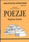 Biblioteczka Opracowań Poezje Zbigniewa Herberta