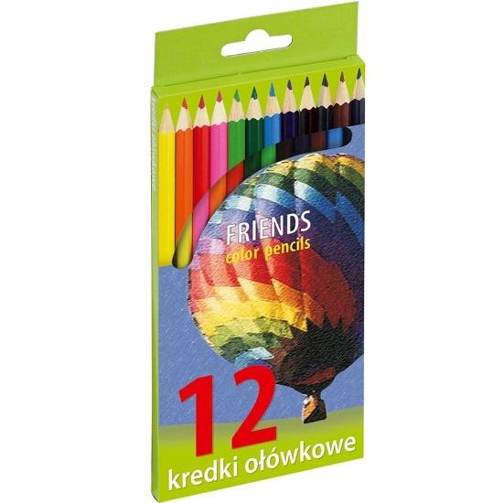 Kredki ołówkowe sześciokątne, 12 kolorów (170-1373)