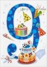 Karnet 9 urodziny HM-200-989