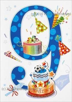 Karnet 9 urodziny HM-200-989 .