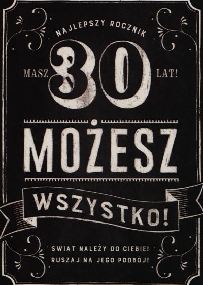Karnet B6 30 urodziny MIX K.B6-1593 .