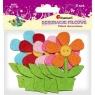 Dekoracja z filcu kwiaty - 5 szt. (319390)