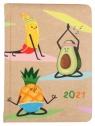 Kalendarz tygodniowy B6 2021 - Kraft owoce