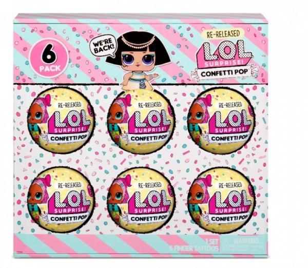 L.O.L. Surprise Figurki 6-pak confetti, Pharaoh Babe (571582E7C/571629)