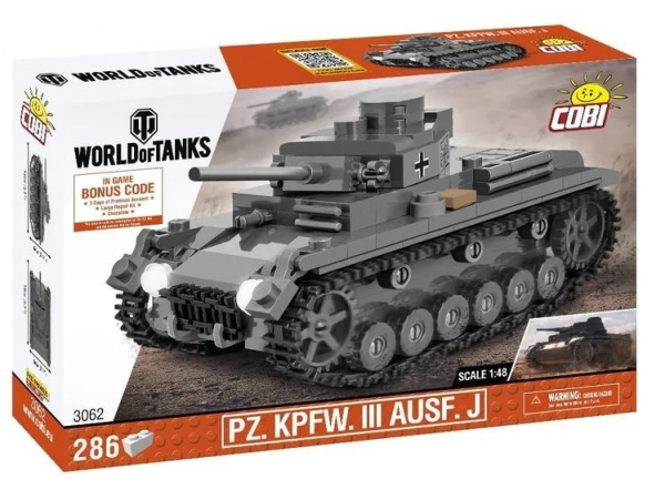 Klocki World of Tanks PZ. KPFW. III AUSF.J 1/48 (3062)