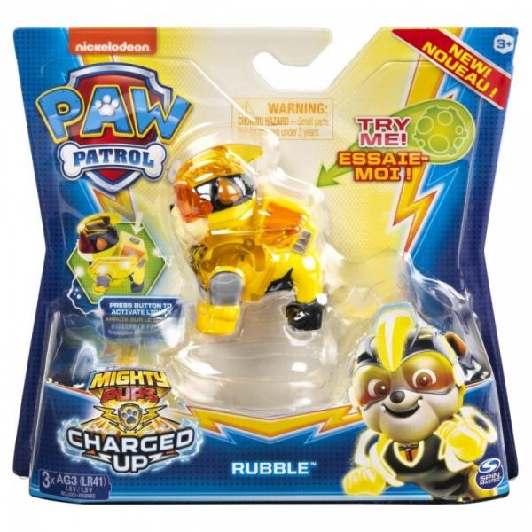 Figurka PSI PATROL Mighty Pups fogurka Rubble (6055929/20122535)