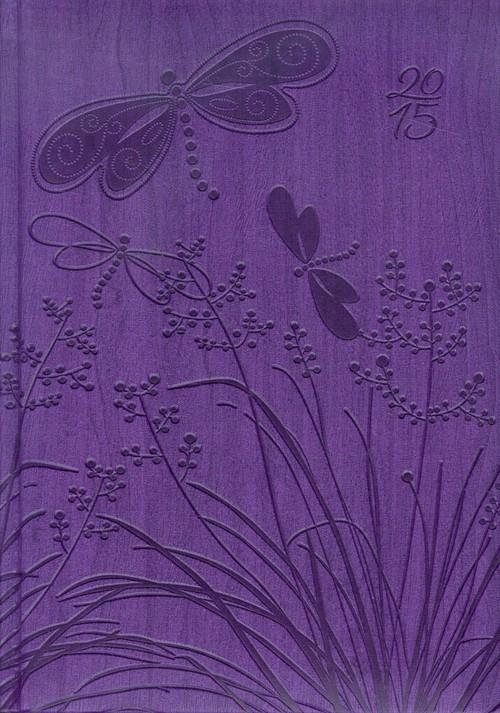 Kalendarz A5 2015 Gardena fioletowy