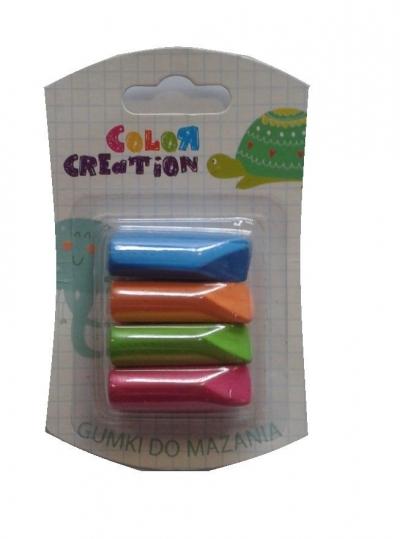 Gumki na ołówek COLOR CREATION