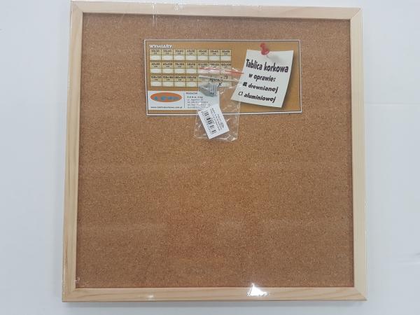 Tablica korkowa 40x40 rama drewniana (TK28)