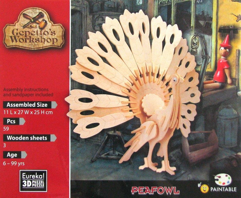 Łamigłówka drewniana Gepetto - Paw (105684)