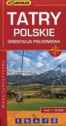 Tatry Polskie orientacja południowa mapa turystyczna 1:30 000