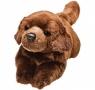 Leżący czekoladowy labrador 30 cm