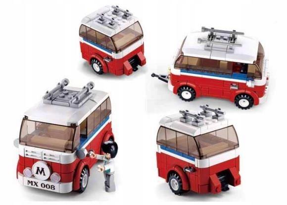 Van z przyczepą - klocki 324 elementy
