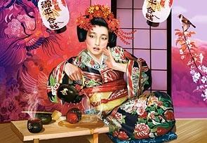 CASTOR 1000 EL. Geisha nalewajac herbatę