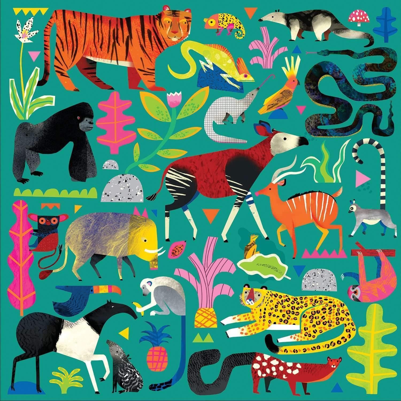 Mudpuppy, Puzzle rodzinne 500: Zwierzęta z lasu deszczowego (MP57631)