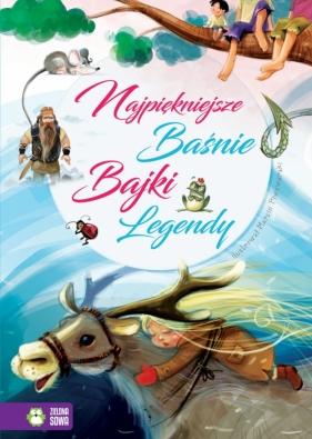 Najpiękniejsze Bajki, Baśnie, Legendy (Uszkodzona okładka) opracowanie zbiorowe