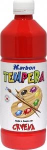 Farba tempera w butelce KARBON 550ml. Czerwony