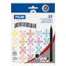 Flamastry Milan Brush 661 pędzelkowe 24 kolory w kartonowym opakowaniu
