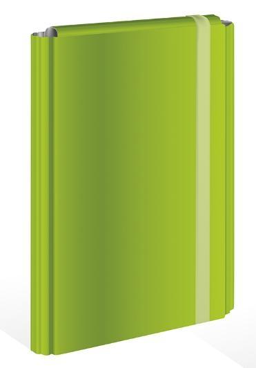 Teczka z gumką A4, twarda oprawa - zielona (404480)