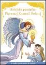 Anielska pamiątka Pierwszej Komunii Świętejw środku figurka anioła do Sapalski Wiesław