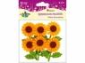 Kwiaty filcowe 3D pomarańczowe 6szt
