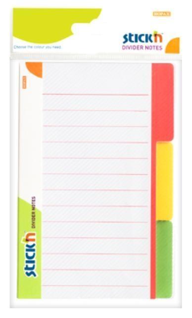 Przekładki samoprzylepne białe, 3 kolory indeksów