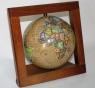 Globus retro w drewnianej ramce 110 mm