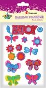 Naklejki piankowe: kwiatki, motylki, mIx kolorów i rozmiarów(EVA50285)
