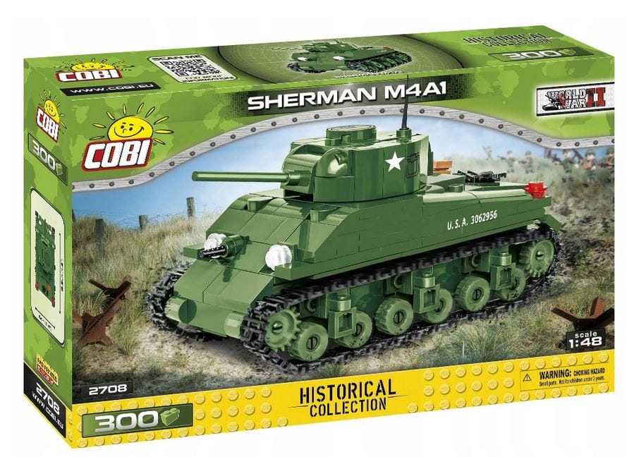 Cobi: Historical Collection. World War II - Sherman M4A1, czołg amerykański (2708)