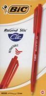 Round Stic Clic czerwony pudełko 20 sztuk