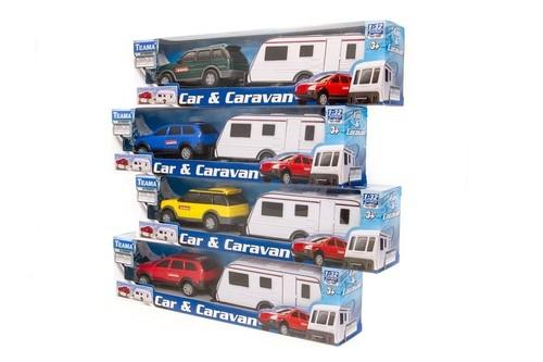 Auto teama combi z przyczepą campingową mix